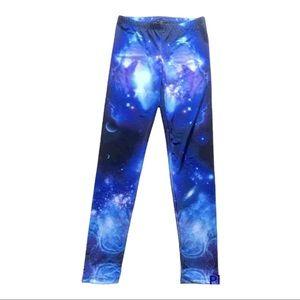 Galaxy Print Forever 21 leggings Small stars